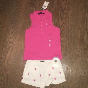Girls Ralph Lauren matching outfit.